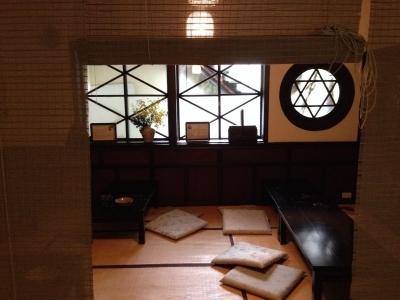 台湾紫藤廬 大正家屋の喫茶店で井戸端会議